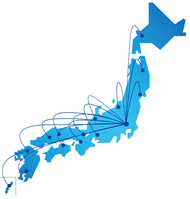 Japan map network [4048154] Map