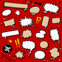 American comic-style balloon icon set [4051570] Chatter