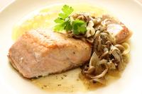 Meuniere of salmon Stock photo [4052476] salmon