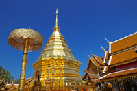 Wat Phrathat Doi Suthep in Chiang Mai, Thailand Stock photo [4052499] Thailand