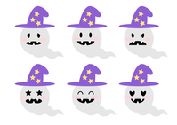 Halloween ghost illustration icon look [4055691] Halloween