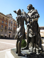Stradivari image in the violin of the city Cremona Stock photo [4057847] Stradivari