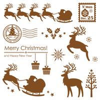 Christmas material silhouette stock photo