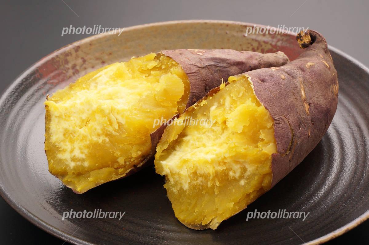 Baked sweet potato up Photo