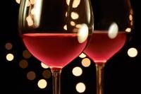 Red wine and Christmas illuminations restaurants Stock photo [4117547] wine