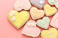 Heart of icing cookies Stock photo [4125988] cookie
