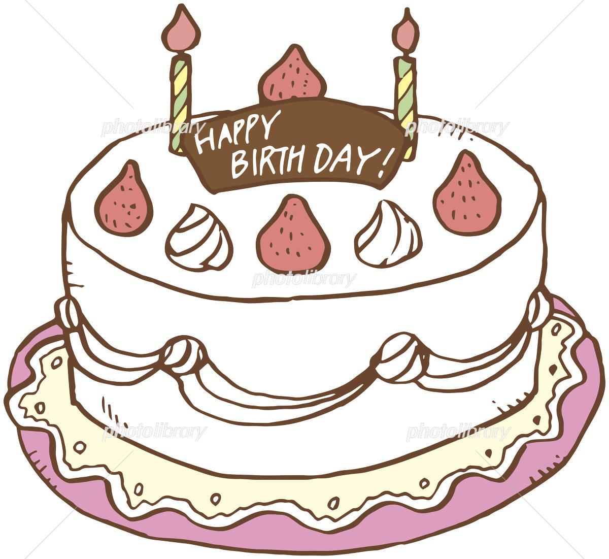 バースデーケーキ イラスト素材 4170427 フォトライブラリー