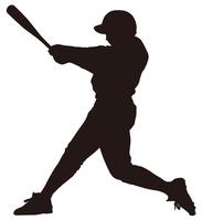 Batter silhouette [4172392] batting