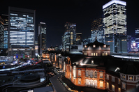 night view of the write-up has been Tokyo Station Stock photo [4172720] Night