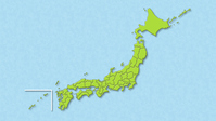 Map of Japan (minute prefecture) Green [4213709] Map