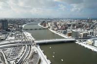 Winter of Shinano River and Niigata city Stock photo [4215768] Niigata