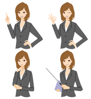 Businesswoman set Female