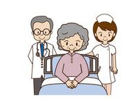 Elderly doctor nurse Doctor