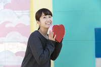 Women Harajuku with a Heart of the box Stock photo [4257266] heart