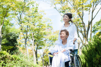 Women who care a wheelchair for the elderly Stock photo [4263573] wheelchair