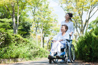 Women who care a wheelchair for the elderly Stock photo [4263617] wheelchair