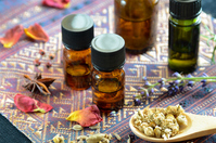 Essential oils and herbs Stock photo [4265832] Aromatherapy