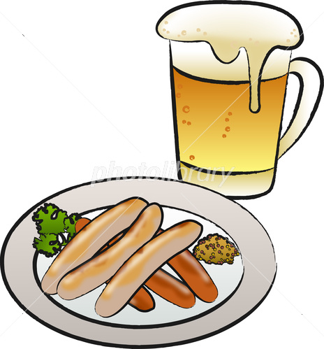 ビールとソーセージ イラスト素材 4421785 フォトライブラリー