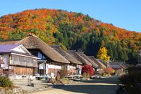 Autumn of Ouchi inn Stock photo [4419127] Autumn