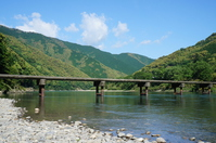 Clear stream Shimanto and Iwama Low Water Crossing Stock photo [4428433] Shimanto