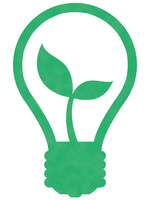 Eco light bulb young leaves illustrations [4429672] Ecology