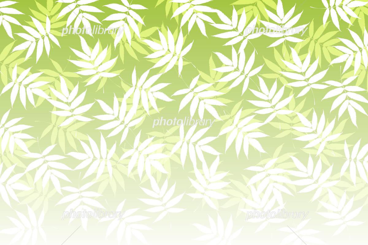 笹の葉模様の和風背景素材壁紙 イラスト素材 4503101 フォトライブ