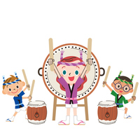 Taiko and Children [4504376] drum