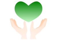 Hands and heart illustrations green [4510450] hand