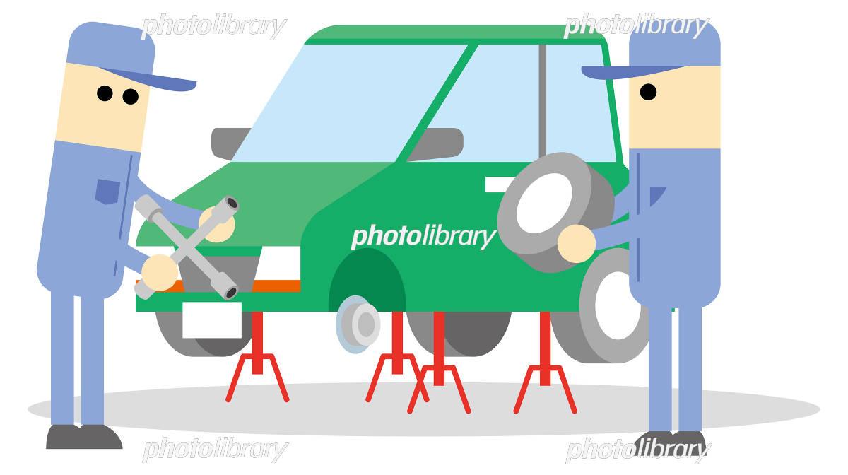「タイヤ交換 イラスト」の画像検索結果