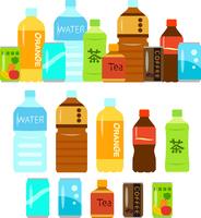 Illustration set of bottled and canned beverage [4579505] PET