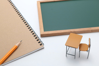 Blackboard notes pencil learning desk Stock photo [4581760] Learning