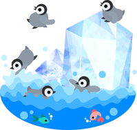 Of cute baby penguin illustrations [4585600] Penguin