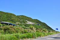 Hairpin curve of Muroto skyline as seen from the bottom Stock photo [4588930] Muroto