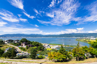 Nagano Prefecture Suwa panoramic view Stock photo [4645238] Lake