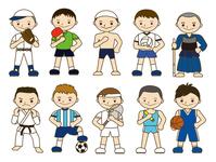 Athletes Men [4646584] Sport