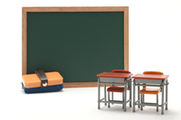 Learning desk blackboard blackboard eraser miniature Stock photo [4647234] Learning