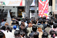 People of Shinjuku Alta square in front Stock photo [4651627] Shinjuku