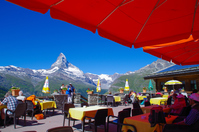 View from Sunnegga observatory restaurant Matterhorn Stock photo [4800030] Sunnegga