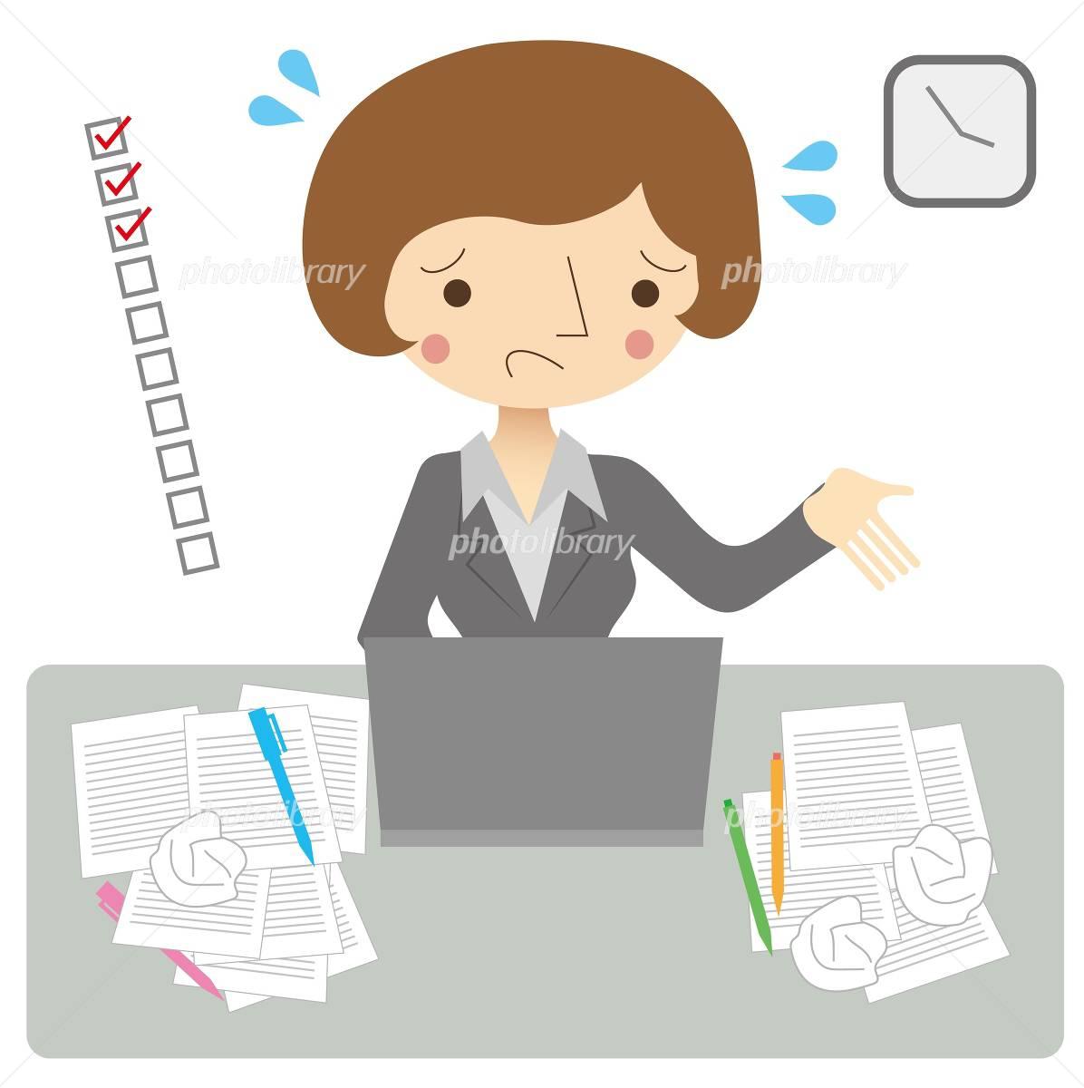 仕事の計画性がない女性 イラスト素材 4898942 フォトライブラリー