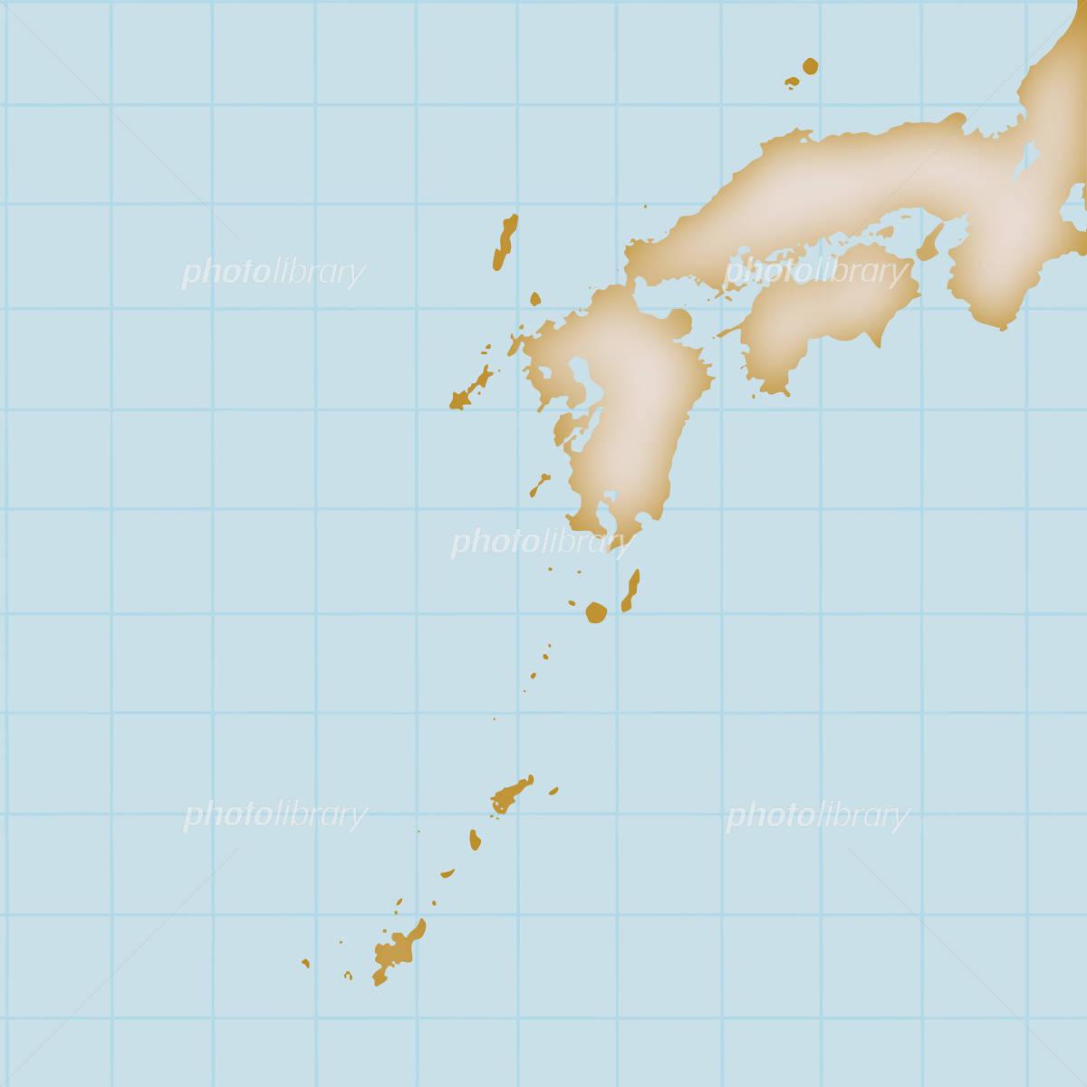 西日本 日本地図 九州 四国 沖縄 イラスト素材 4903867 フォト