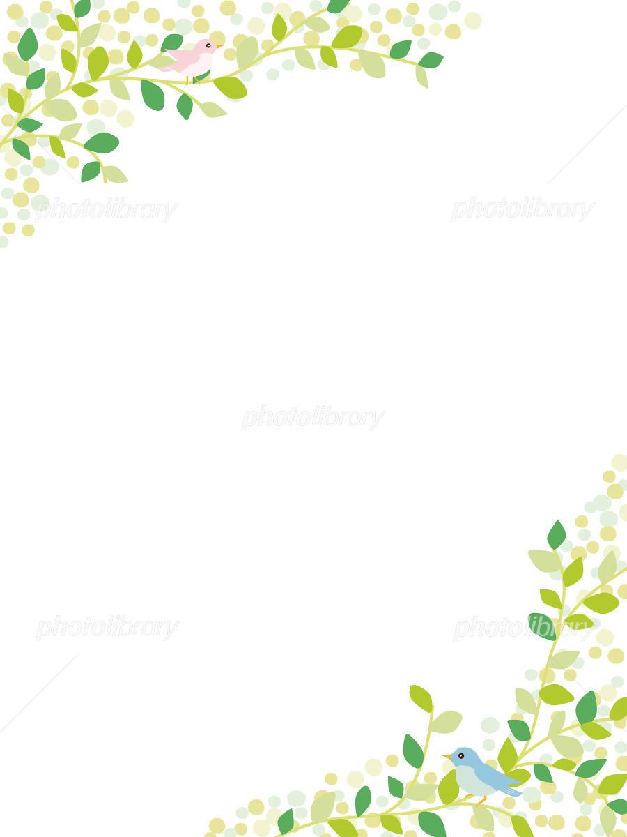 植物と小鳥のナチュラルな背景素材 イラスト素材 4906125 フォト