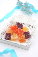 Heart of fruit jelly Stock photo [4894023] White