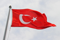 Turkey flag that trail Stock photo [4895271] Turkey