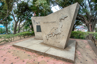 Monument of Tadataka Ino surveying great deed table Stock photo [4896260] Monument