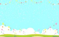 Confetti balloon landscape [4897016] Confetti