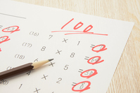 Education Image - hundred points test of Stock photo [4899563] pencil