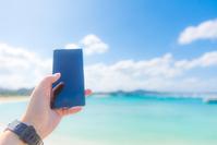 Blue sky and smartphone Stock photo [4901271] smartphone