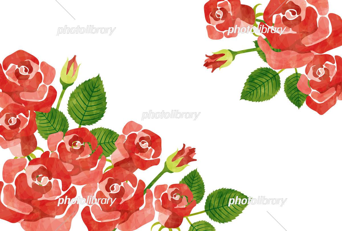 バラのフレーム赤 イラスト素材 5005709 無料 フォトライブ
