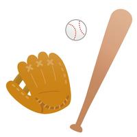Baseball glove and bat and ball [5005026] baseball