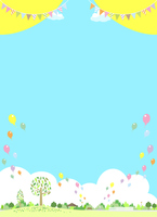 Landscape balloon flag [5009074] hill